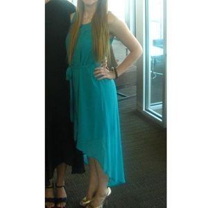 Teal tapered dress